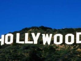 scritta hollywood
