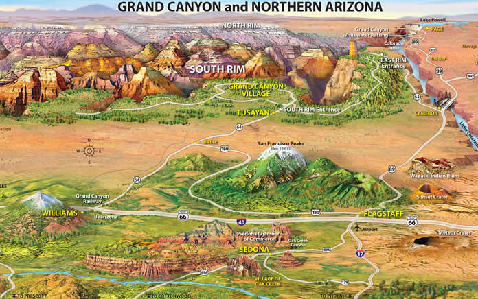 Mappa del grand Canyon